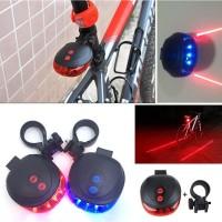 5 Sinar Laser LED MTB Untuk Lampu Sorot Belakang Sepeda
