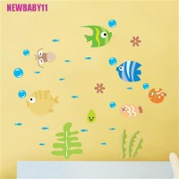 Cute Cartoon Fish Sea Bubble Ocean World Removable Wall Sticker
