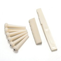 Bridge Pins + Saddle Senar Gitar Akustik Beige