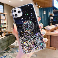 Case Samsung A30s A50 A50s A51 S20 Plus S20 Ultra Pop Socket Glitter - Hitam, A51