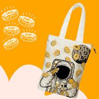 Totebag Premium Kanvas Doughnut