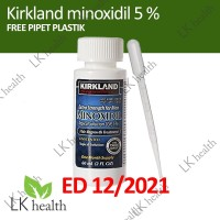 Kirkland Minoxidil 5% Original Obat Penumbuh Rambut Jenggot dan Brewok
