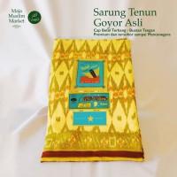 SARUNG TENUN GOYOR LEGENDARIS ASLI - BETEL TERBANG - KUNING - MOTIF 2