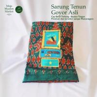 SARUNG TENUN GOYOR LEGENDARIS ASLI - BETEL TERBANG - HIJAU - MOTIF 2