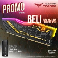 MEMORY RAM PC TEAM T-FORCE DELTA RGB DDR4 PC25600 3200MHZ 16GB (2x8)