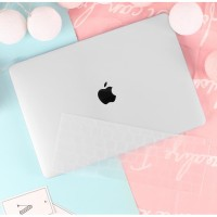 Batianda Hard Case Logo Macbook Air 13 inch 2018/2019 Matte Transparan