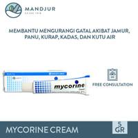 Mycorine Cream 5 Gr - Salep Gatal Jamur, Panu, Kurap, Kutu Air