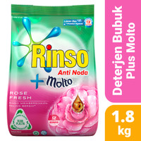 Rinso Molto Rose Fresh 1.8kg - Detergen Laundry Deterjen Bubuk Pink