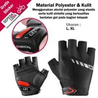 Sarung Tangan Gloves Sepeda RockBros Dengan Gel Half Finger Hitam