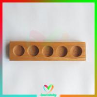 Rak kayu essential oil 5 slot