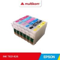 TINTA INK EPSON T821 BLACK HITAM ORIGINAL REFILL R270 R290 R295 R390