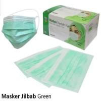 Masker medis hijab/headloop onemed original segel isi 50pcs