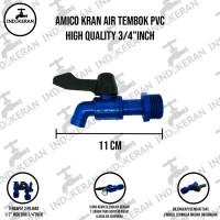 AMICO - Kran Air Tembok PVC Bola Kuningan- 3/4 Inch - High Quality