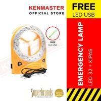 KENMASTER LAMPU EMERGENCY & KIPAS KM 560 1 & 29 LED WITH BOX