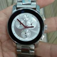 jam tangan quartz sports chronograph dial putih