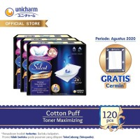 Silcot Maximizer Cotton 40 - Kapas Kecantikan Unicharm - 3 Packs