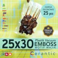 Plastik Vacum Emboss 25x30 / Vacuum Bag Embossed