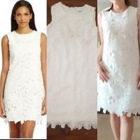 Calvin klein branded original Lace sheat dress white