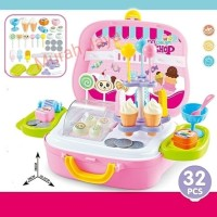 Mainan Anak Perempuan Ice Cream Shop Koper - Mainan Anak Es Krim Koper