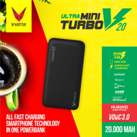 VYATTA MINI TURBO V20 VOOC 3.0 POWERBANK 22.5W - Huawei FCP,Vivo,QC3.0
