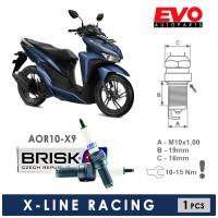 Busi Motor BRISK X-LINE AOR10-X9 untuk VARIO 150