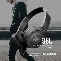 HEADPHONE JBL T450 ORIGINAL EARPHONE HANDSFREE MIC AUDIO HEADSET MUSIC
