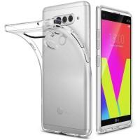 LG V40 ThinQ - Slim TPU Soft Case CLEAR