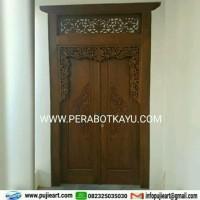 Pintu Rumah Kayu Jati Minimalis | Gebyok Jati Ukir Jepara Jawa Klasik