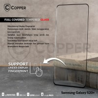 SAMSUNG GALAXY S20 PLUS - COPPER FULLCOVERED TEMPERED GLASS