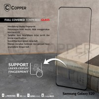 SAMSUNG GALAXY S20 - COPPER FULLCOVERED TEMPERED GLASS