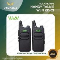 HT Walkie Talkie WLN KD-C1 ( isi 2 Unit ) - Warna Hitam