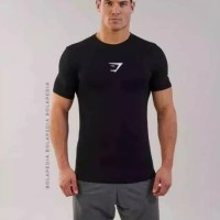 KAOS LOGO GYMSHARK / Baju Olahraga Gym Fitness training Compression