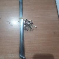 JARI-JARISEPEDA/SPOKES 14G X 26 CROME 36 PCS