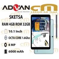 Advan Tab Sketsa 10.1 Inch 4/32 RAM 4GB ROM 32GB GARANSI RESMI ADVAN