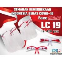 Face Shield Kacamata Merah Putih Nagita READY