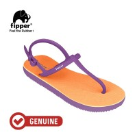 Fipper Strappy / Sandal Jepit Tali Wanita / Peach - Purple