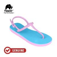 Fipper Strappy / Sandal Jepit Tali Wanita / Blue Sky - Pink Soft
