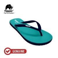 Fipper Slim / Sandal Jepit Wanita / Turquoise - Navy