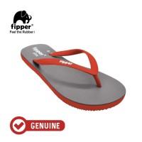 Fipper Slim / Sandal Jepit Wanita / Grey - Red