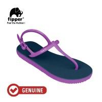 Fipper Strappy / Sandal Jepit Tali Wanita / Blue Snorkel - Violet