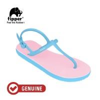 Fipper Strappy / Sandal Jepit Tali Wanita / Pink Light - Blue Sky