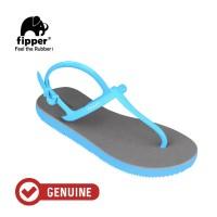 Fipper Strappy / Sandal Jepit Tali /Grey - Blue Sky