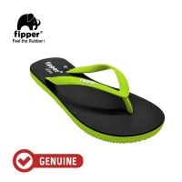 Fipper Slim / Sandal Jepit Wanita / Black - Green Apple
