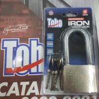 Gembok PUTIH Iron Padlock Besi TOHO pagar rumah 60mm 60 mm PANJANG