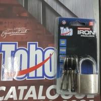 Gembok PUTIH Besi Iron Padlock pagar rumah TOHO 40mm 40 mm PENDEK