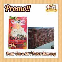 Pasir Kucing Cub and Kit (PAKET 3 KARUNG) Pasir Gumpal/Pasir Cub n Kit