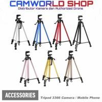 Tripod With 3-Way Head For Camera & Handphone Smartphone HP WT3366