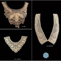 Kain Renda Kerah Collar V - Gold - Mocca