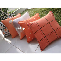 PINKIIPO - Sarung Bantal Sofa 40x40 [Orange]