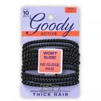Goody slideproof 1942323/ 30785 4mm black elastics 10ct